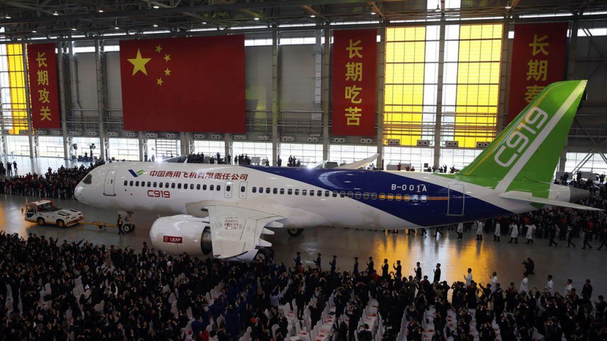 C919, el avión de pasajeros chino que quiere romper el monopolio el monopolio de Airbus y Boeing