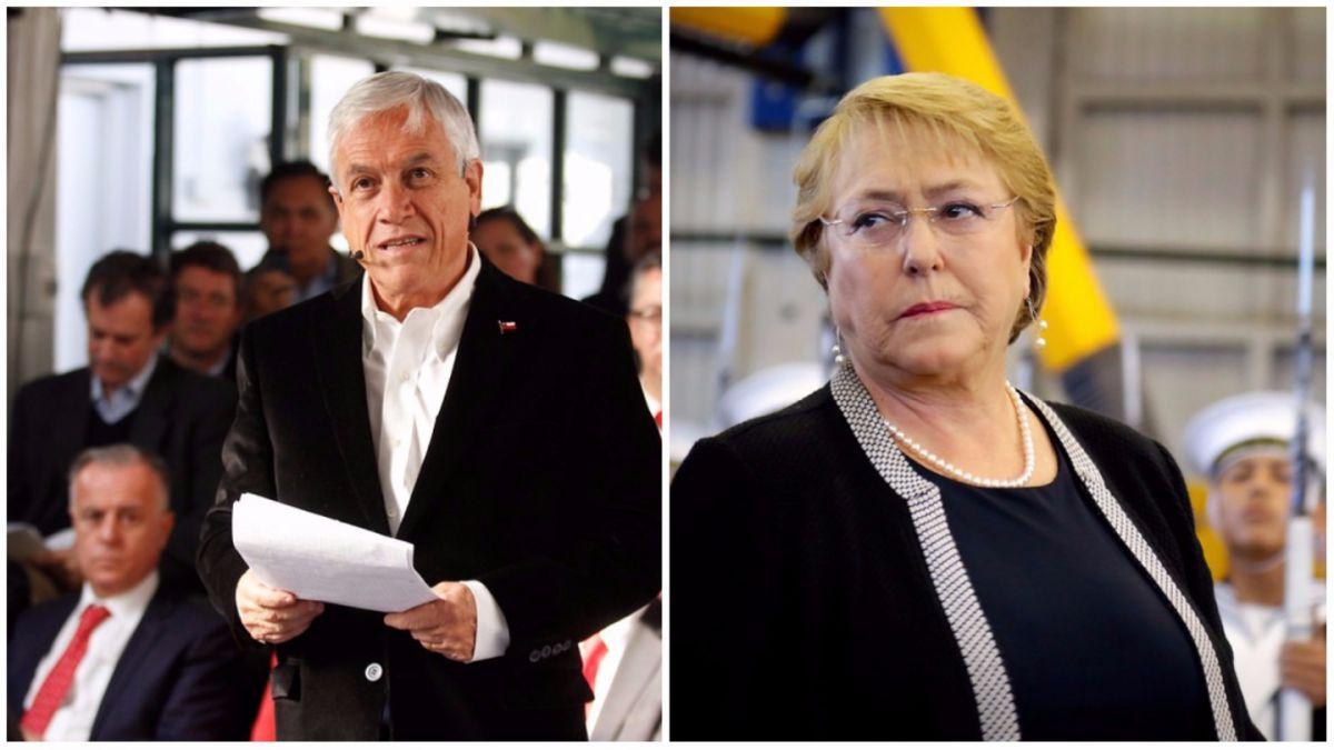 Piñera se enfrenta a Bachelet por subsidios y la acusa de hablar sin información