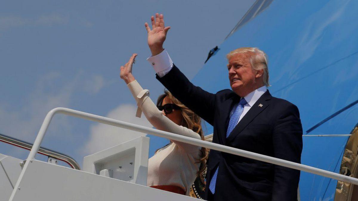 Donald Trump inicia su primera gira al exterior