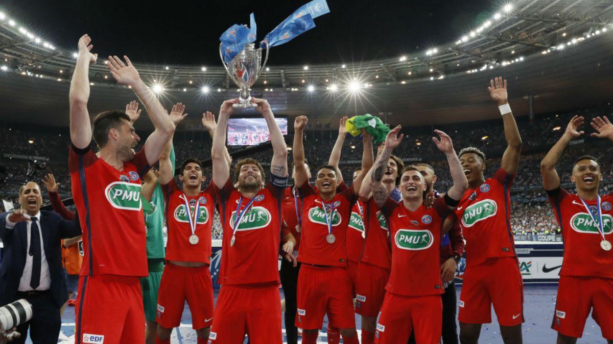 PSG sufrió para ganar la Copa de Francia