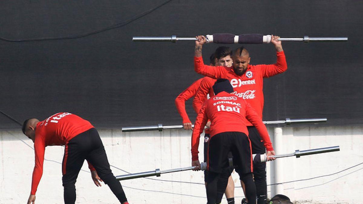 Chile inicia prácticas para la Copa Confederaciones sin Alexis ni Vidal