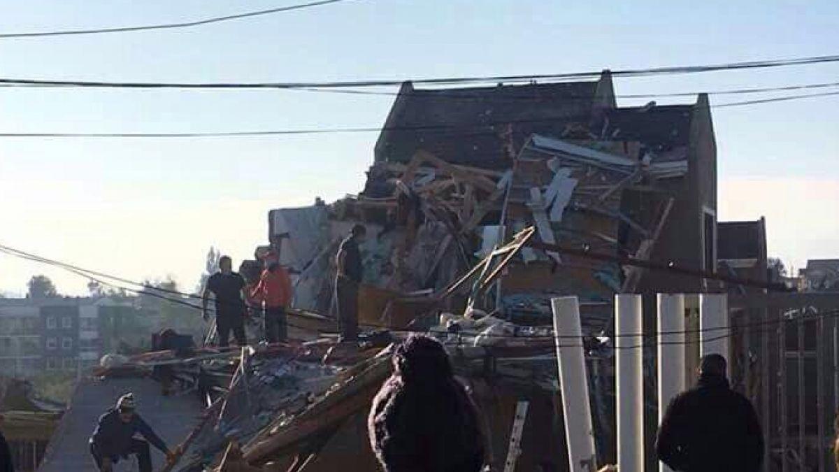 Drone capta la destrucción que causó explosión de gas en Quilpué