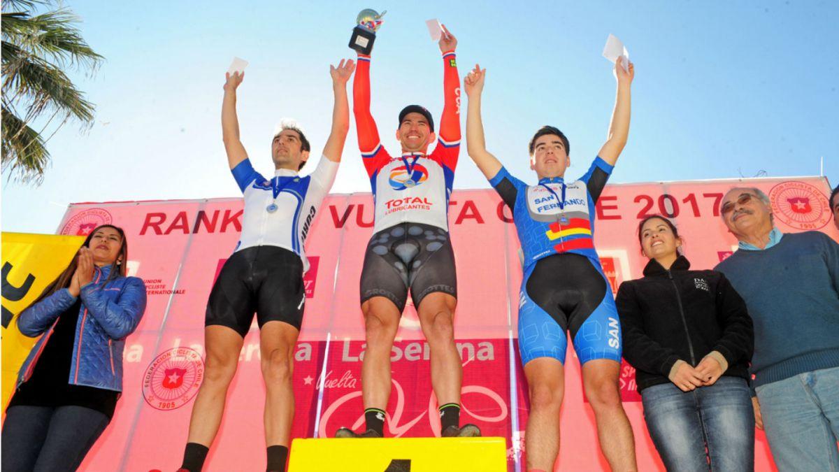 Gonzalo Miranda gana segunda etapa del primer Clasificatorio de la Vuelta Ciclista a Chile