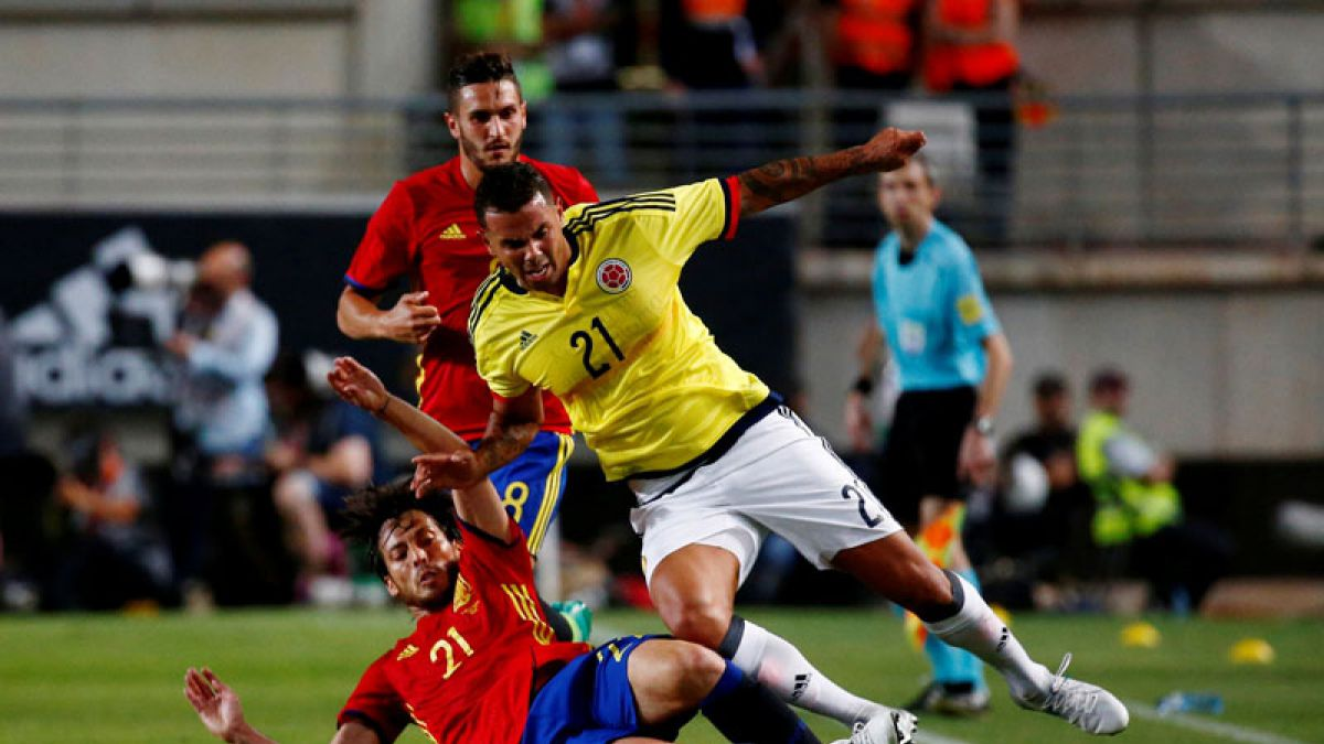 Amistosos internacionales: Colombia empata con España y Uruguay cae goleado ante Italia