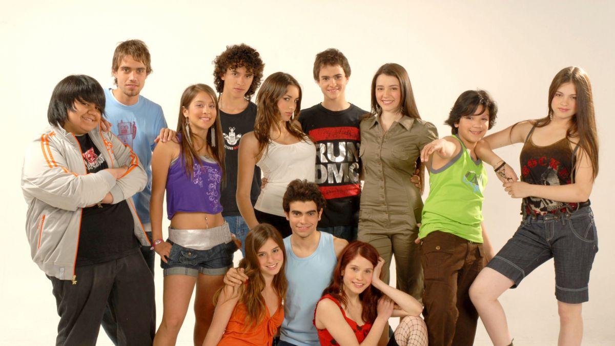 """""""Amango"""" tuvo tres temporadas... esta imagen corresponde al elenco protagónico del segundo ciclo"""
