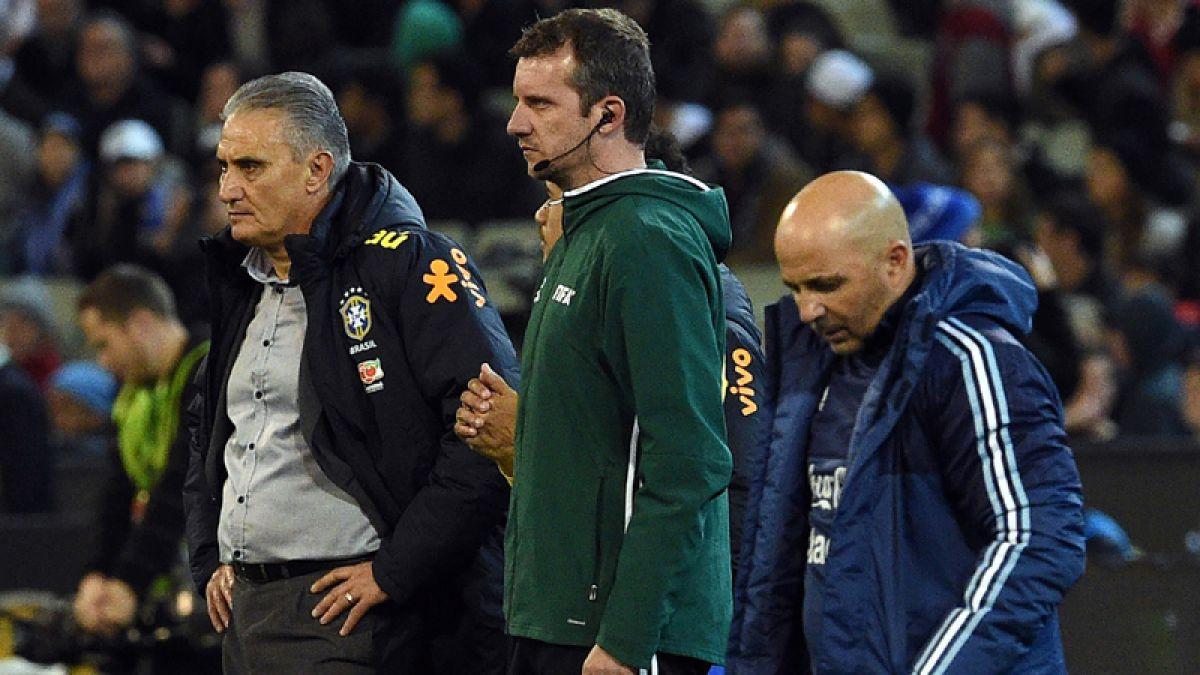 Argentina vence 1-0 a Brasil en debut de Sampaoli