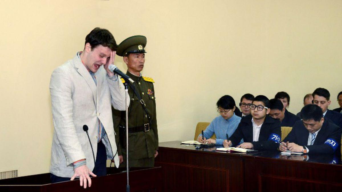 Estadounidense en estado de coma liberado por Corea del Norte aterriza en Ohio