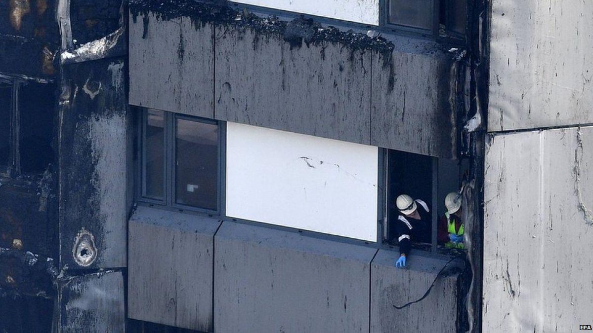 Ya son 17 las víctimas del incendio en la torre Grenfell