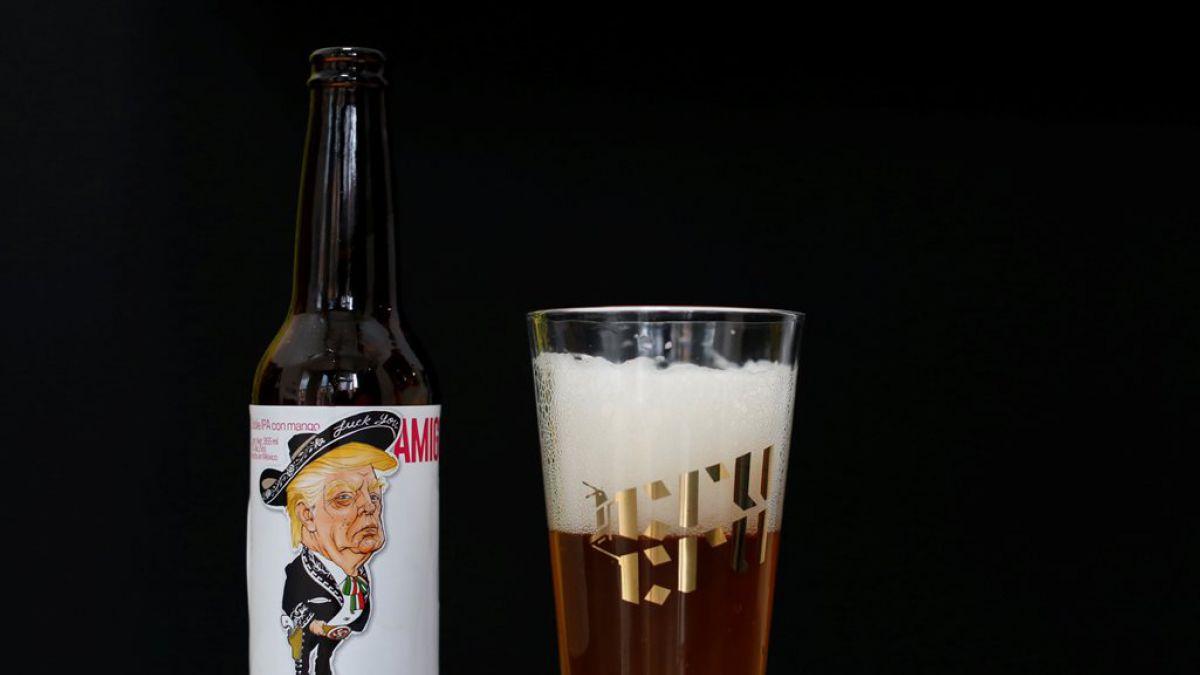 Trump de mariachi, la imagen de esta cerveza mexicana