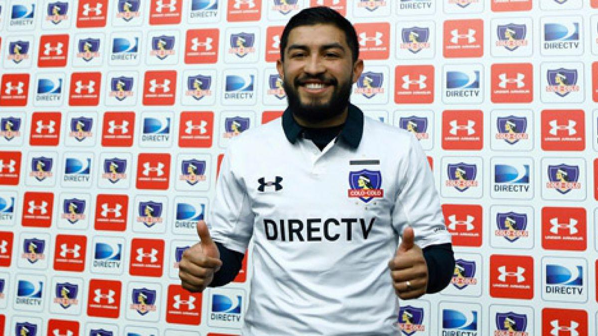 """Nicolás Maturana es presentado en Colo Colo: """"Es un sueño de niño venir y defender esta camiseta"""""""