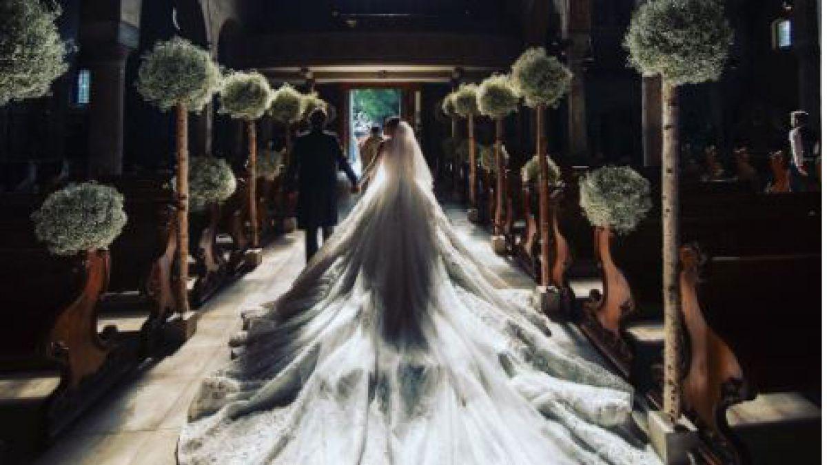 Así es un vestido de novia cuando eres una Swarovski
