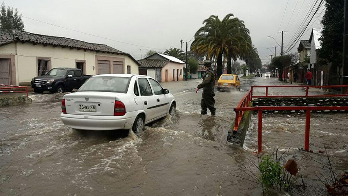 Evacuan viviendas en la región del Maule debido a sistema frontal — CHILE