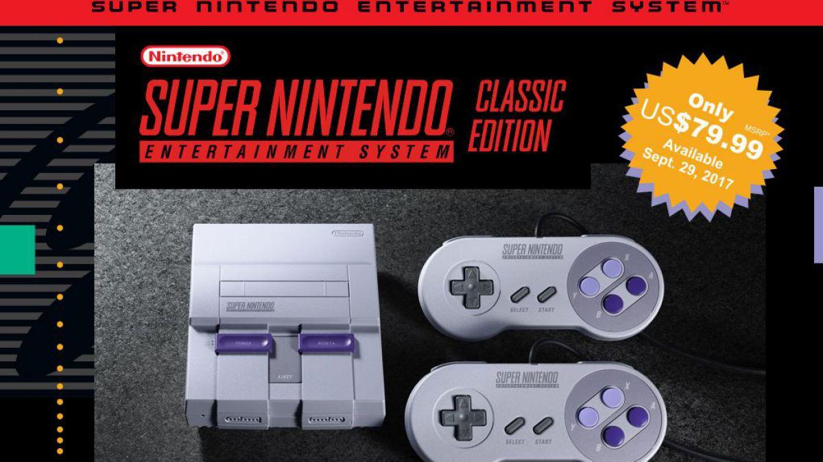 Snes Classic Edition Nueva Consola De Super Nintendo Tele 13