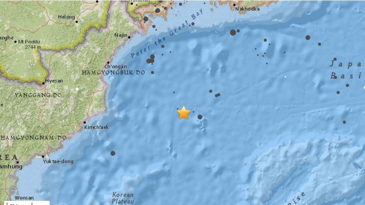 Terremoto de magnitud 5,8 sacude las costas de Corea del Norte