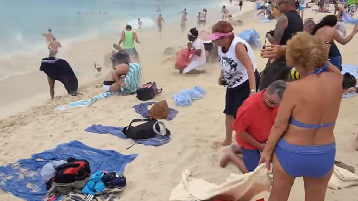 Muere turista debido al viento de una turbina de avión