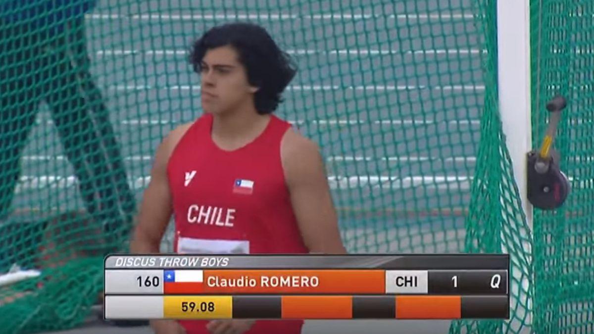 Claudio Romero venció en el lanzamiento de disco del Mundial sub 18