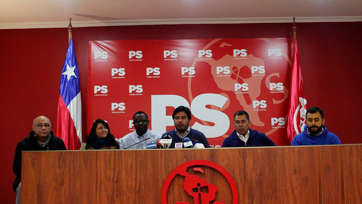 Rueda de prensa en el Partido Socialista