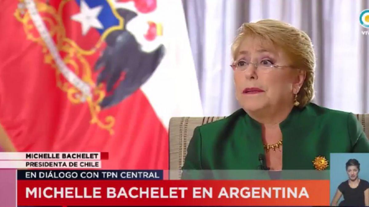 Bachelet: No es posible obligar a negociar soberanía