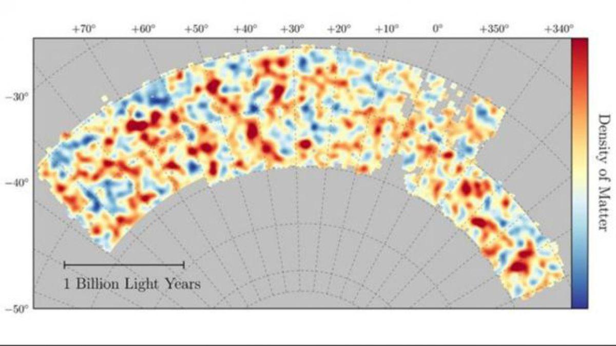 Crean mapa del 'lado oscuro' del Universo
