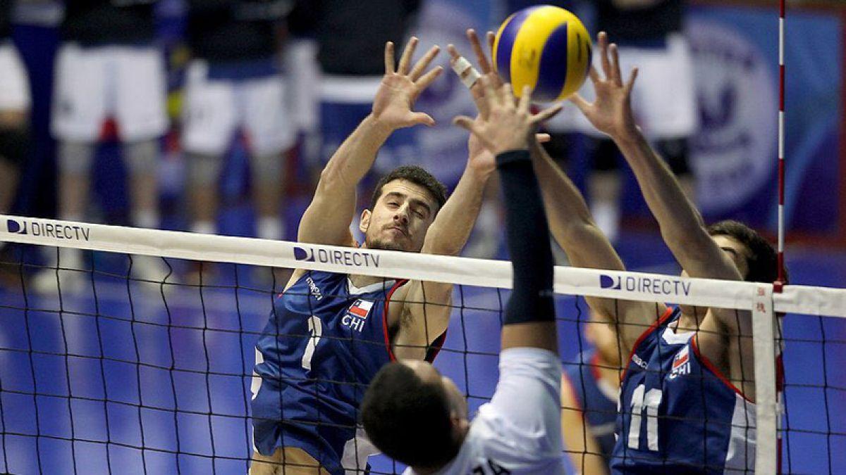 Chile debuta con sólido triunfo ante Perú en el Sudamericano de voleibol