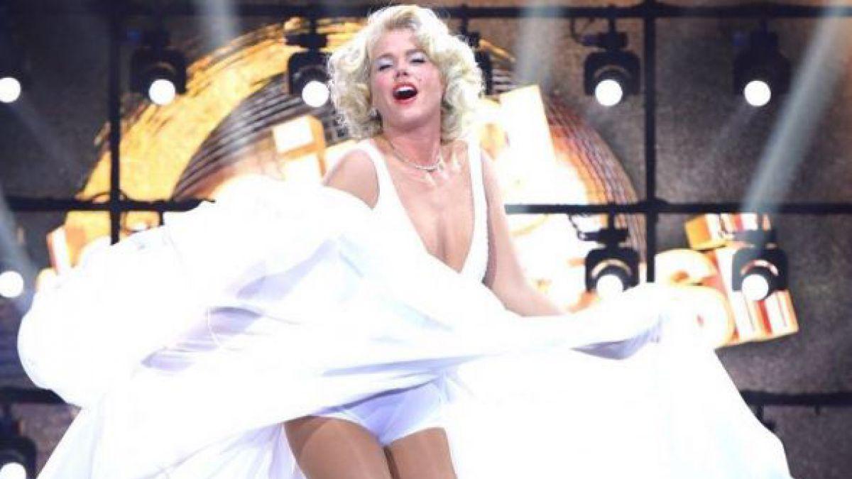 Xuxa revivió a Marilyn Monroe en una imitación memorable