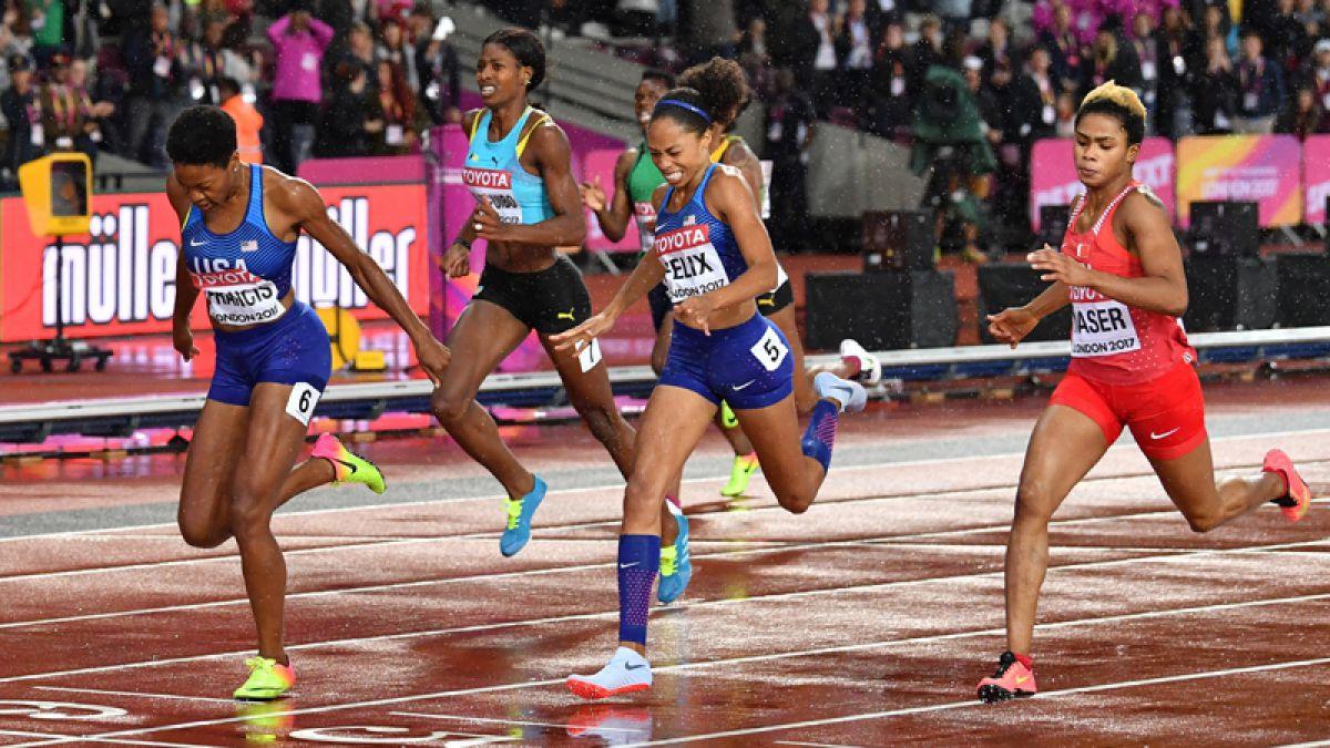 Francis gana el oro en los 400 metros