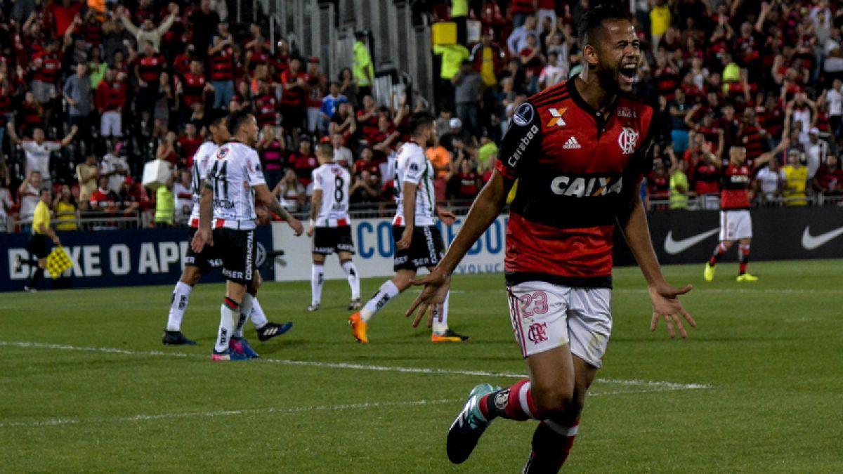 Palestino recibe aplastante goleada ante Flamengo y se despide de la Sudamericana