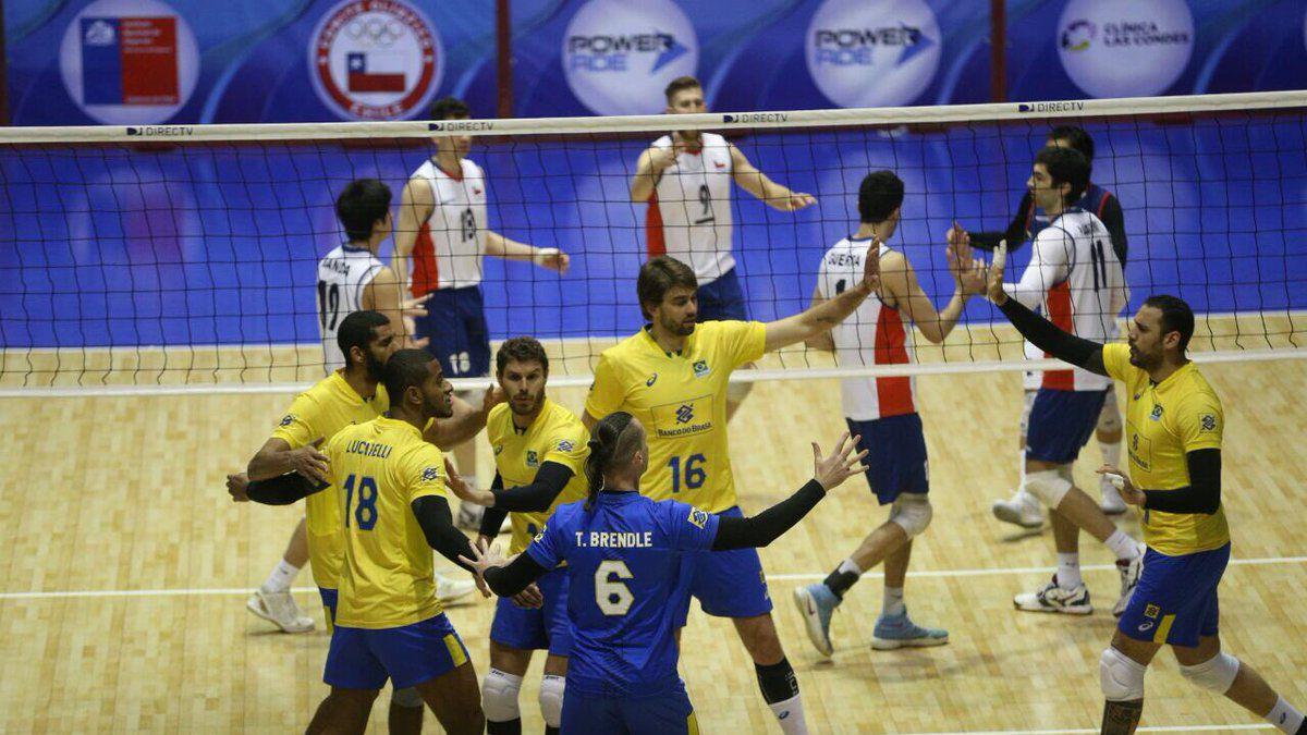 Chile no pudo ante Brasil y cayó en semifinales del Sudamericano de voleibol