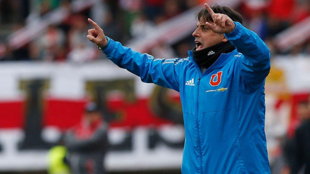 """El técnico de Universidad de Chile continuó con las comparaciones en el CDA y dijo que Gustavo Lorenzetti """"es el Iniesta zurdo""""."""