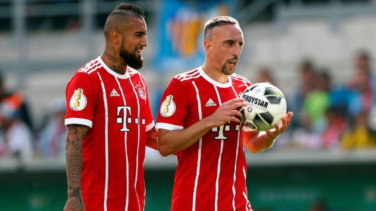 Arturo Vidal actúa en goleada de Bayern Munich sobre Chemnitzer por la Copa de Alemania