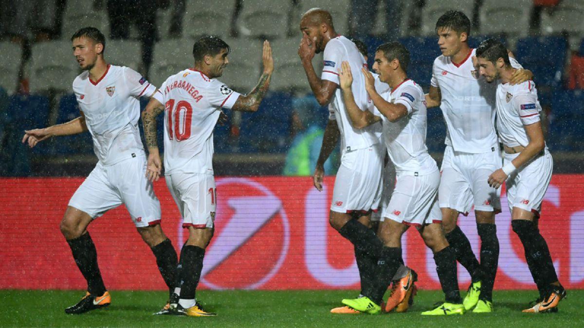 El Sevilla de los argentinos venció 2-1 a Istanbul como visitante