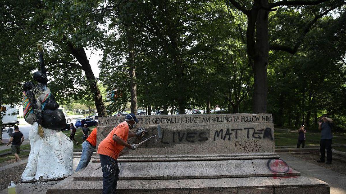 Están destrozando nuestra cultura: Trump sobre retiro de monumentos confederados