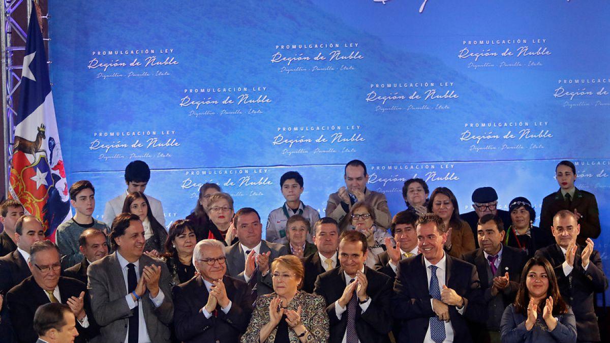 Bachelet por nueva Región de Nuble: