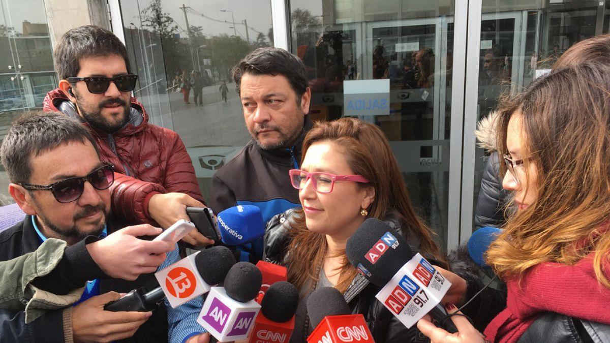 Marcela Labraña declara como imputada en el Centro de Justicia — Caso Sename