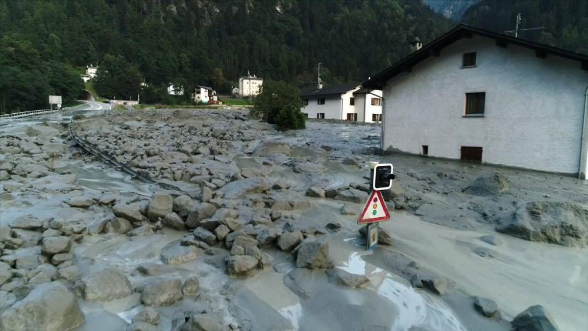 Suiza: 8 desaparecidos en deslave junto a frontera italiana
