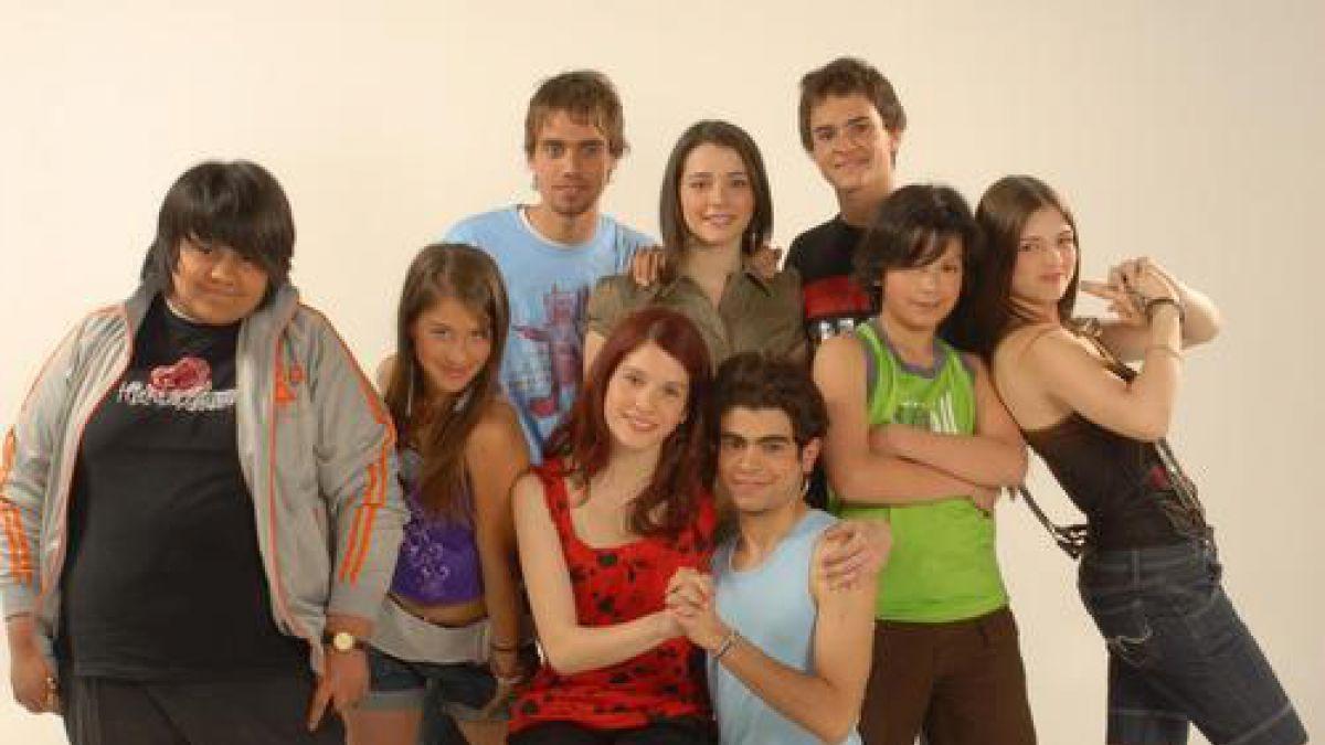 """""""Amango"""" y sus protagonistas en pleno boom de la serie, en 2007"""
