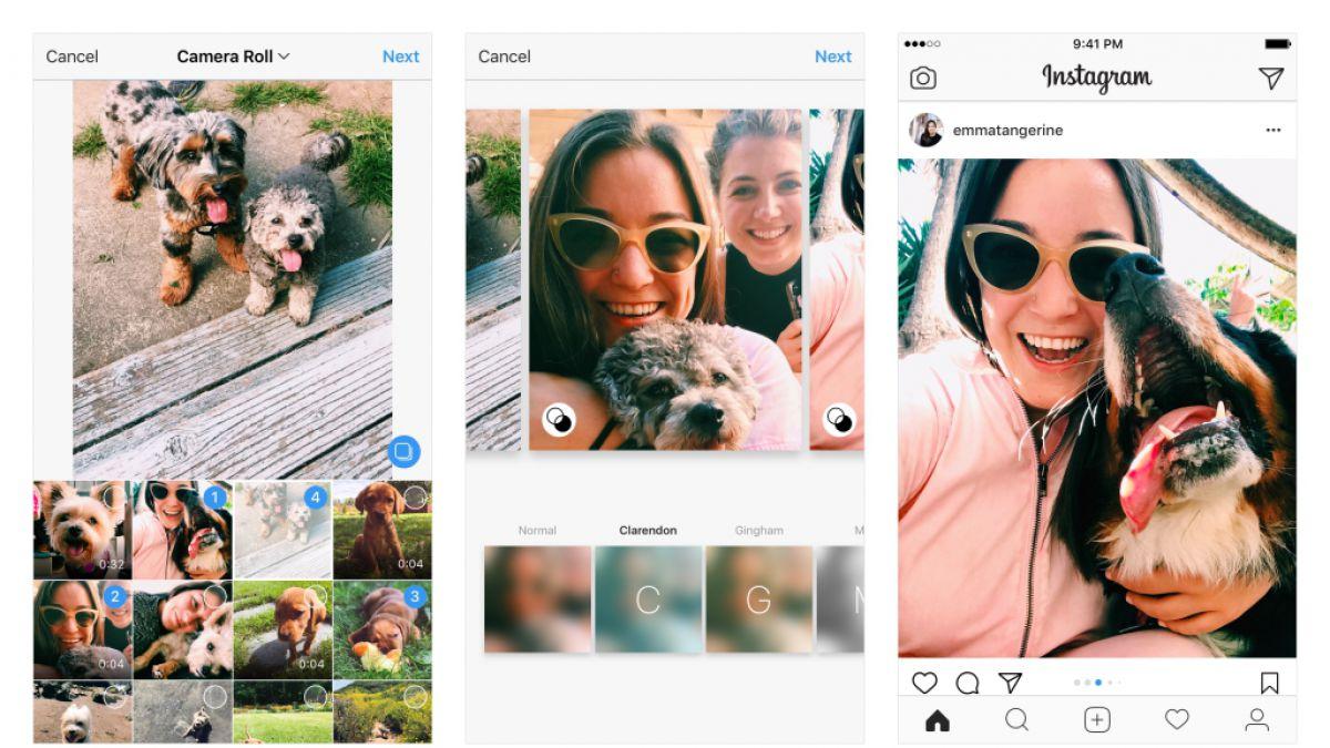Instagram ahora permite elegir formatos de paisaje y retrato en publicaciones múltiples
