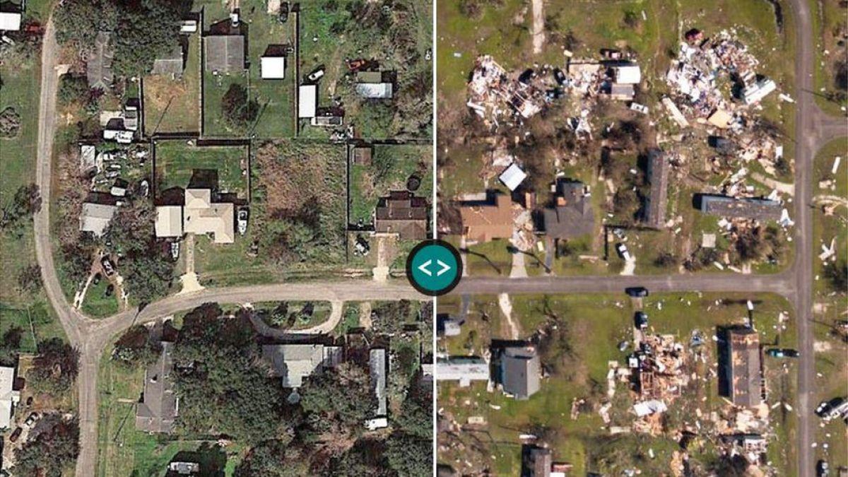 Trump, otra vez en la zona del desastre — Huracán Harvey