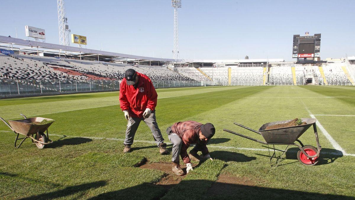 [FOTOS] Así se prepara el Monumental para el duelo de este jueves entre Chile y Paraguay