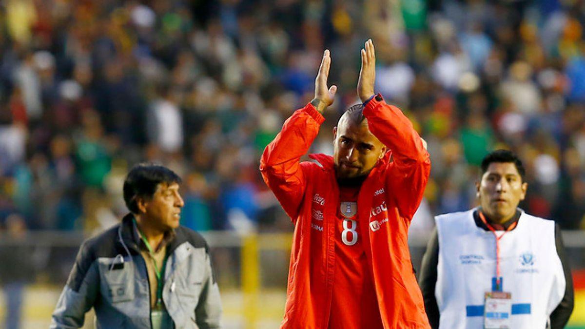"""Arturo Vidal se muestra dolido por la derrota ante Bolivia y desliza su retiro de """"La Roja"""""""