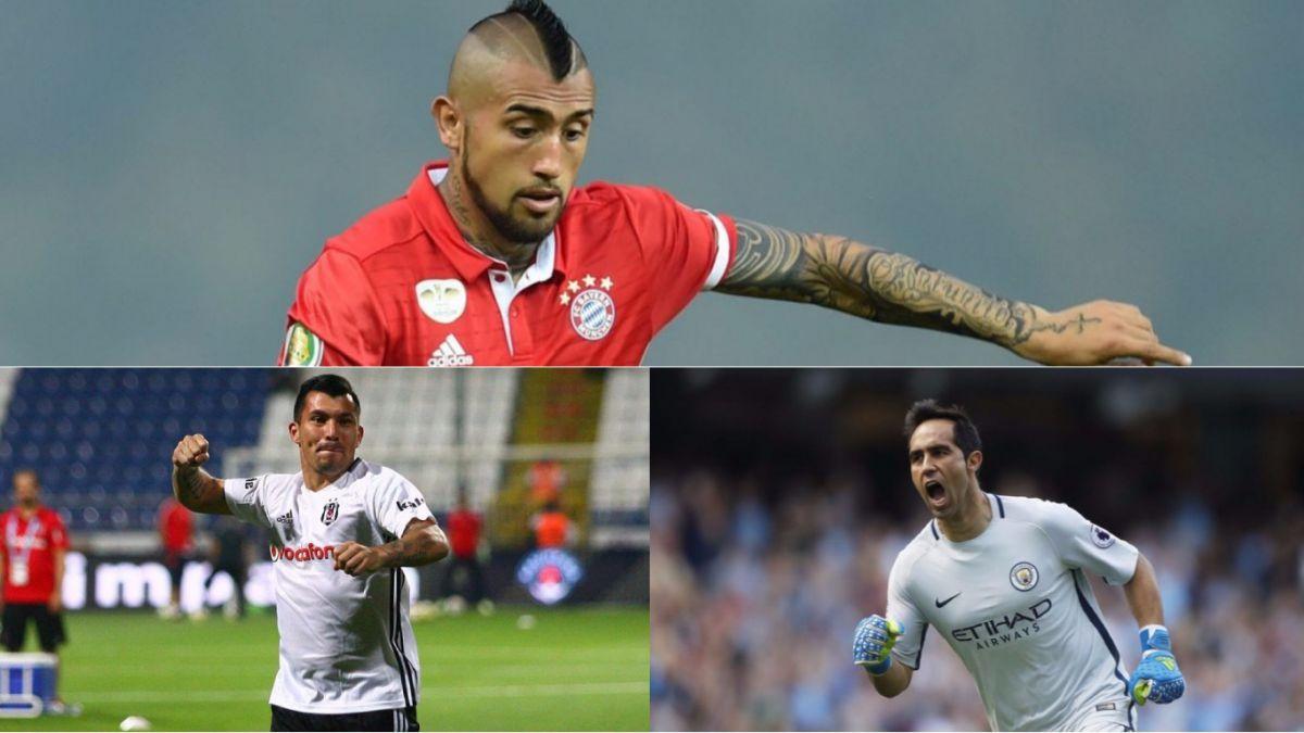 Chilenos a la cancha en Champions Vidal Medel y Bravo vivirán su estreno
