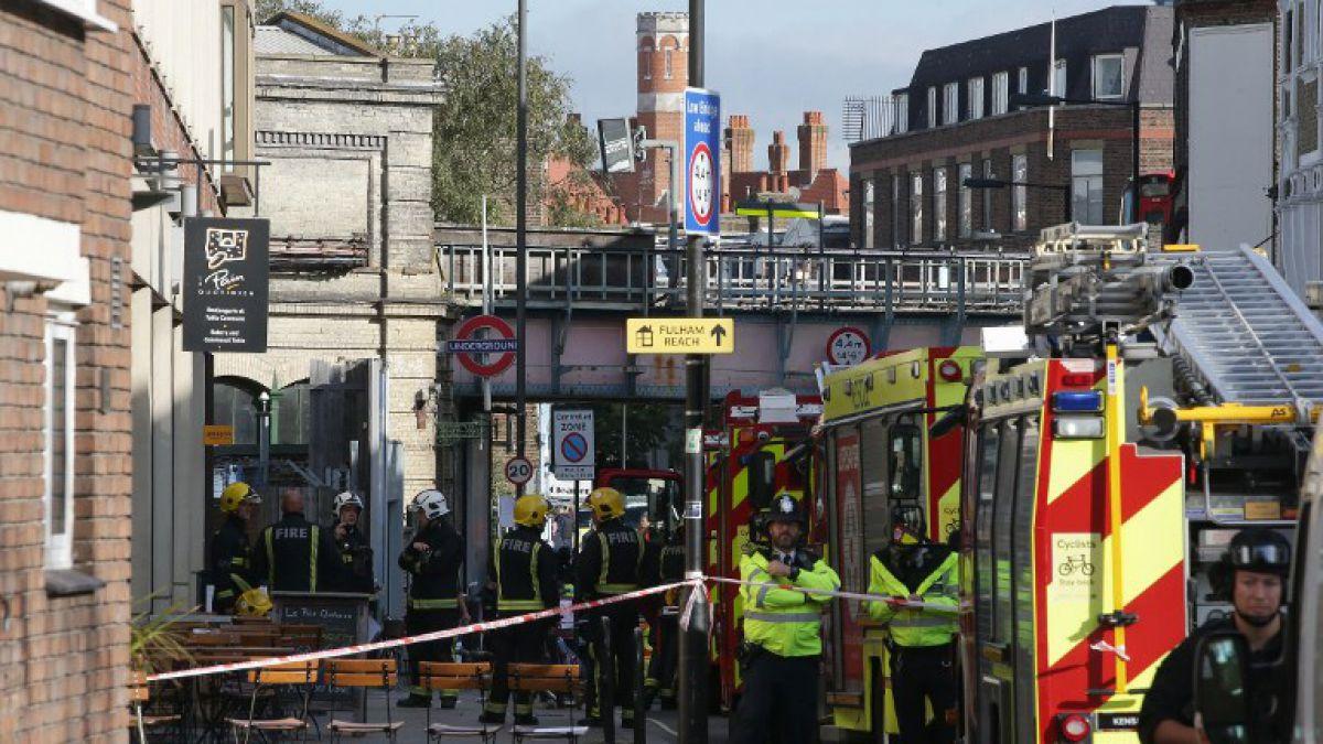 Explosión en metro de Londres deja 22 heridos