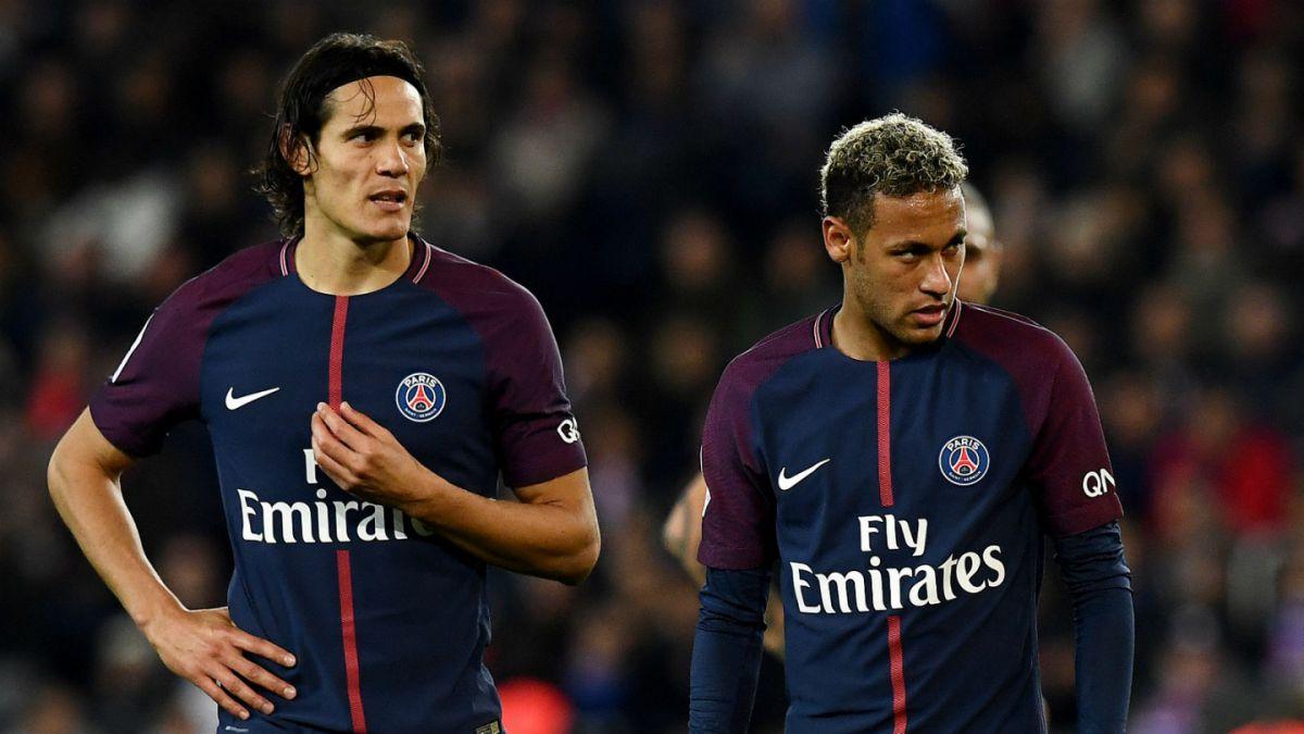Edinson Cavani niega problemas con Neymar en el París Saint-Germain