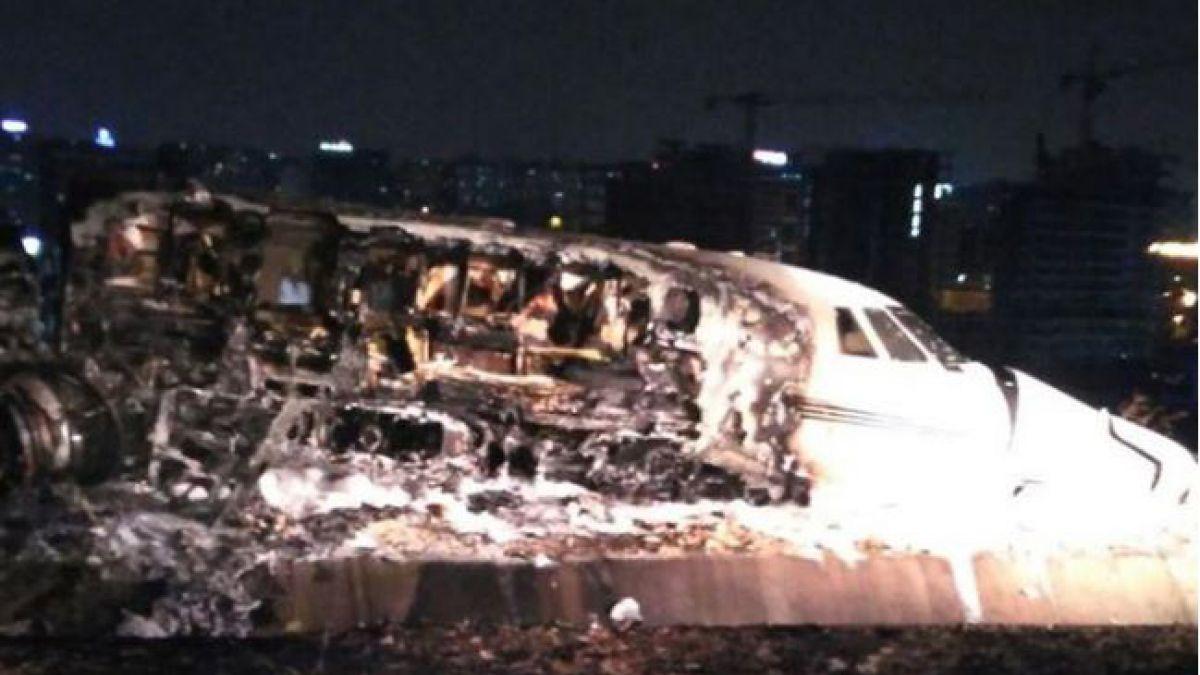 Turquía: Cierran aeropuerto de Estambul tras incendio de avión