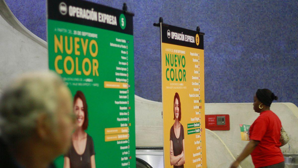 Metro de Santiago: Cambio de color en estaciones de L2 y L5 durante Ruta Expresa