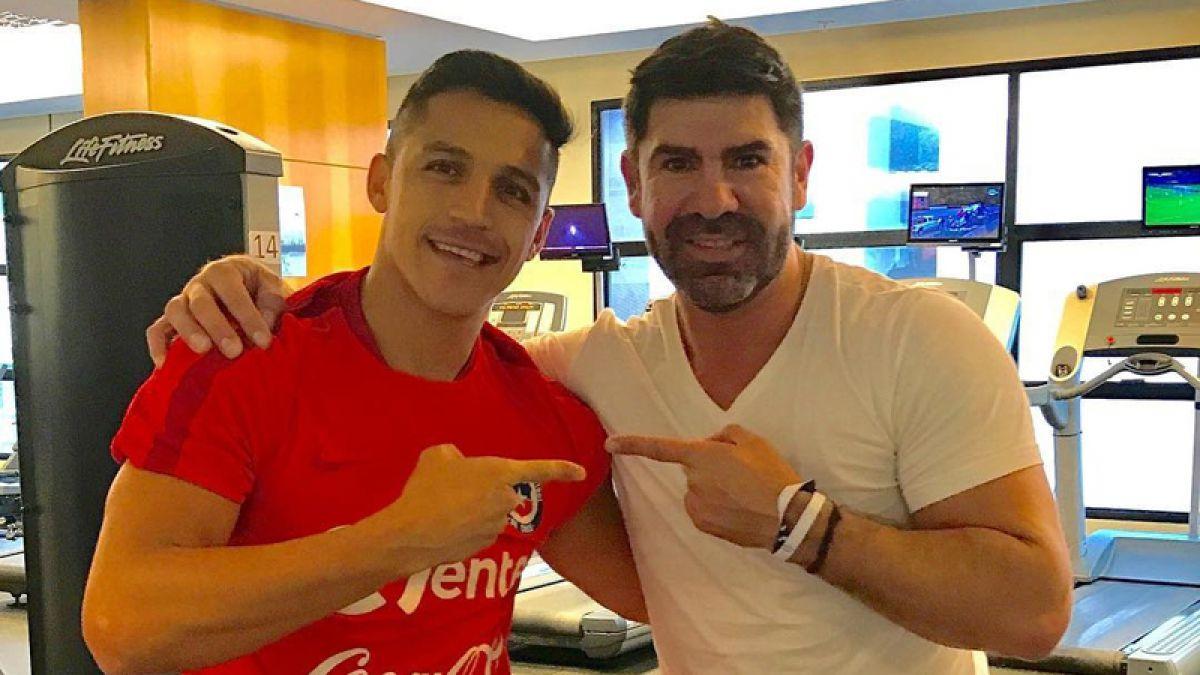 De goleador a goleador: Alexis Sánchez recibió la visita de Marcelo Salas