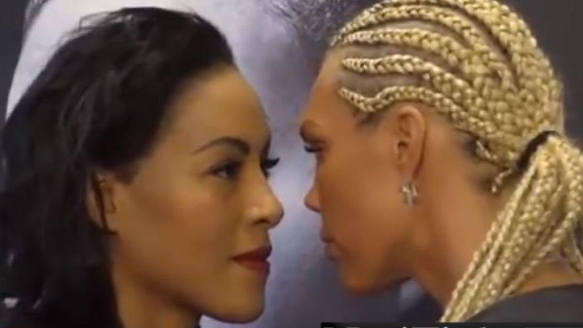 VÍDEO | Boxeadora besa a su rival en plena conferencia de prensa