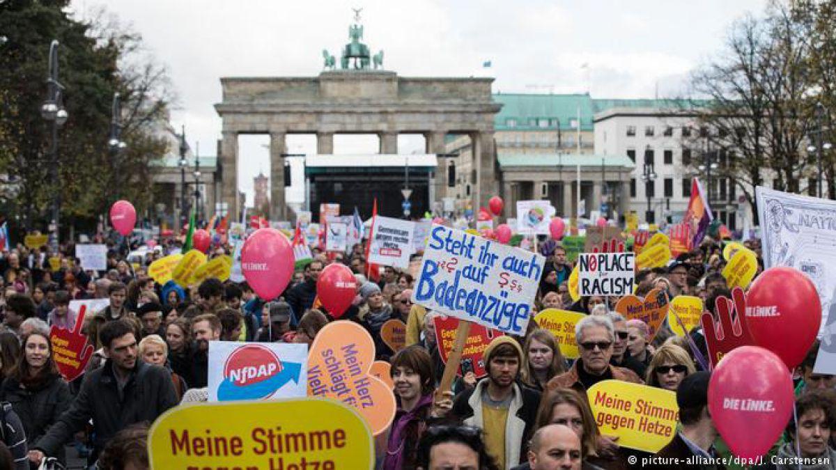 """""""Odio en el Parlamento alemán"""", una razón para tomar las calles de Berlín"""