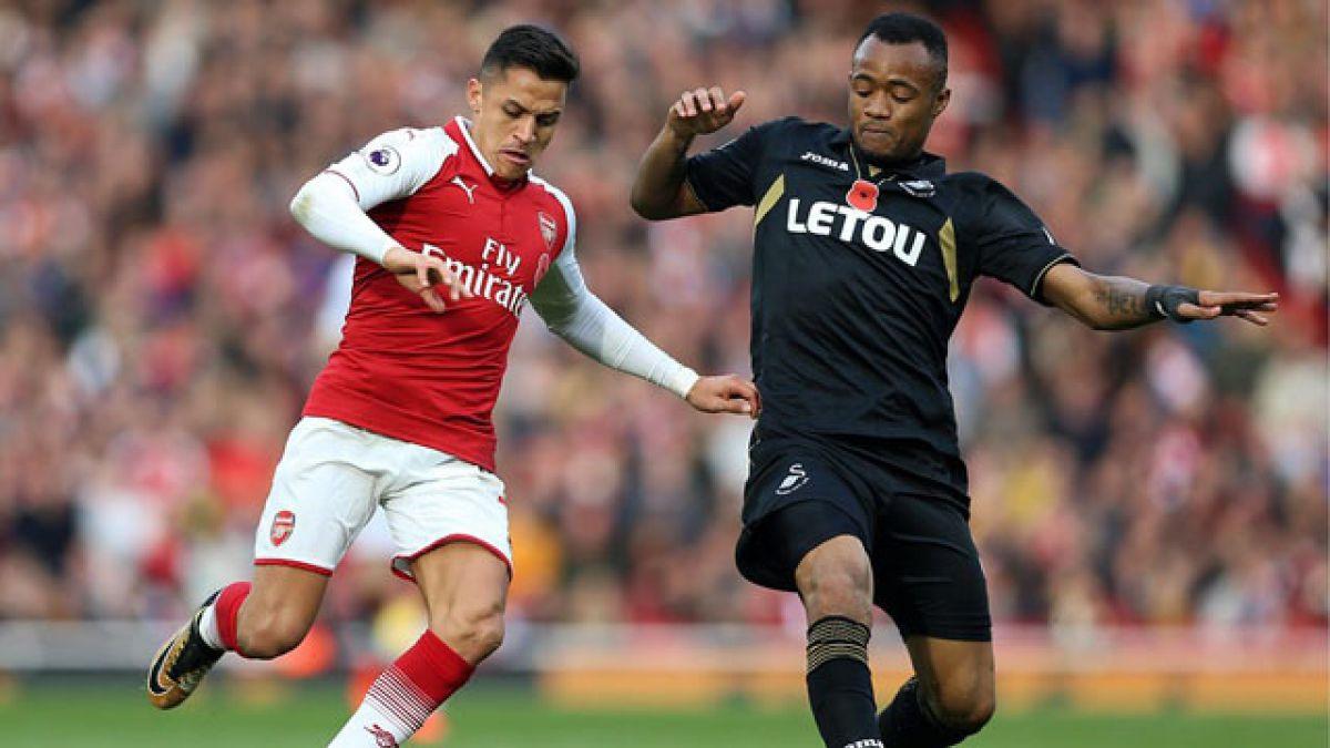 Alexis juega todo el partido en remontada de Arsenal FC sobre Swansea