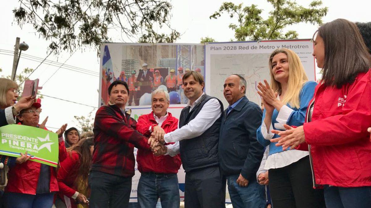 Sebastián Piñera presentó proyecto para eventual Línea 10 del Metro